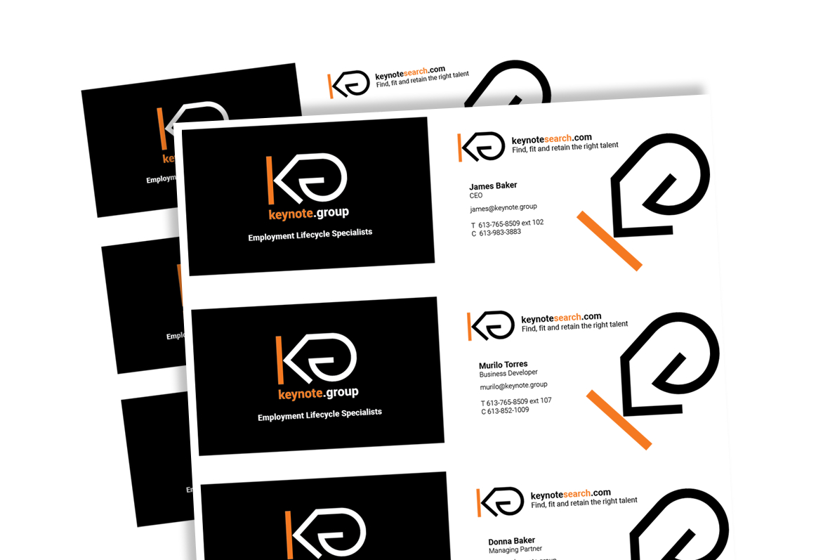 Keynote Business Cards
